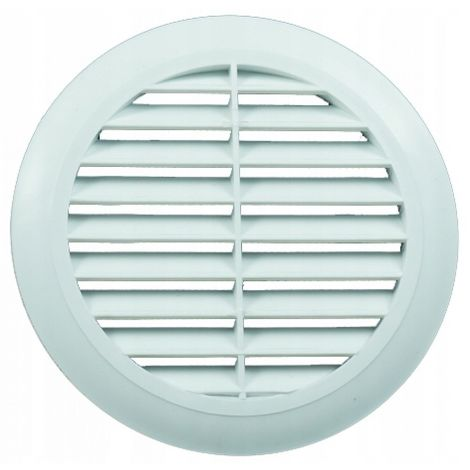 Round ventilation grille fi 125 with white mesh New