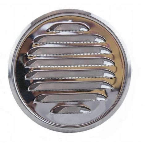 Round ventilation grille with stainless steel stub