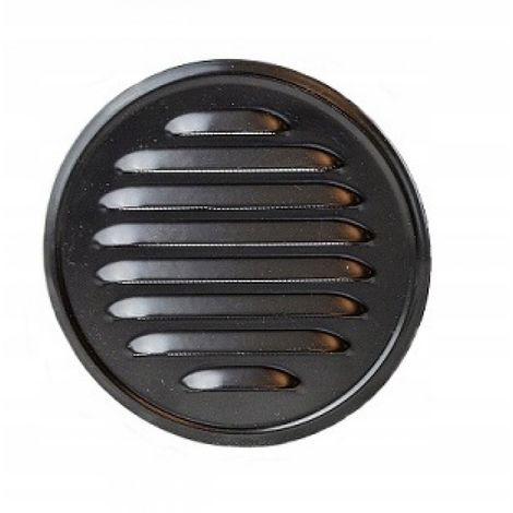 Round ventilation grille with stub pipe 100 black New