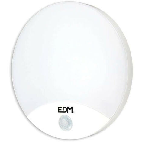 Round wall lamp with EDM LED Sensor 15W 4000K 1250 Lumens 250x49mm