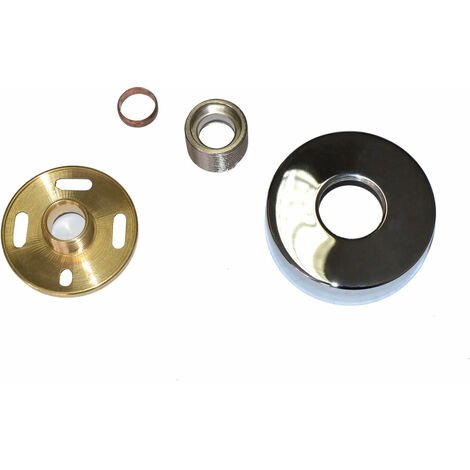 Round Wall Mounted Easy Fitting Kit For Shower Mixer Valve & Bath Taps
