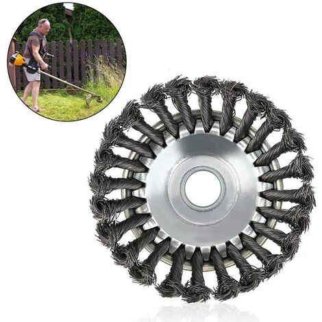 """main image of """"Round weed killer brush for brushcutter - High resistance - Cone - Weed control - 20.3 cm"""""""