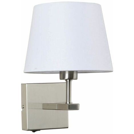 Round white bedside wall lamp Norte