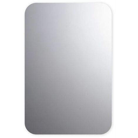 Rounded Polished Edge Bathroom Mirror 400mm x 600mm Wall Mounted Versatile