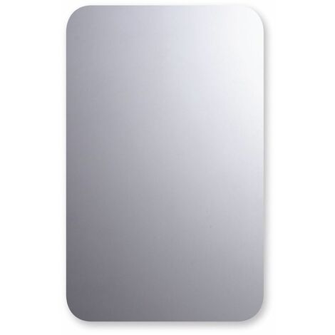 Rounded Polished Edge Bathroom Mirror 500mm x 800mm Wall Mounted Versatile