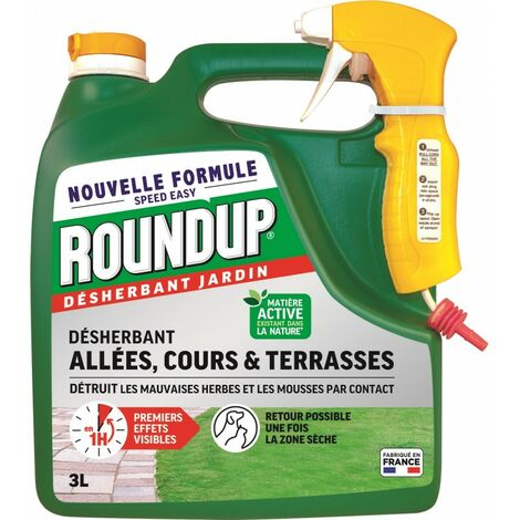 Roundup - Désherbant Allée terrasse 3L Pulvérisateur
