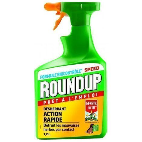 Roundup - Désherbant Biocontrôle 1h pulvérisateur intégré 1.2