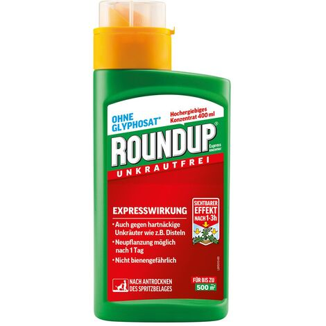 "main image of ""Roundup Express Unkrautfrei Unkrautvernichter Glyphosatfrei Konzentrat, 400 ml"""