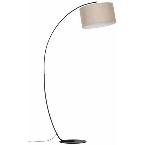 Rousse Black Metal Arched Floor Lamp + LED Bulb