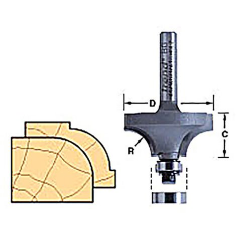 Router Cutters - BEARING GUIDED OVOLO CUTTER