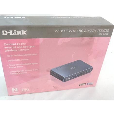 Routeur modem ADSL2/2+ sans fil 802.11 hautes performances pour usage domestique et petite entreprise N150 D-LINK DSL-2680