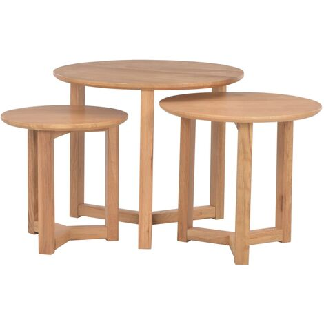 Routh 3 Piece Nest of Tables by Ebern Designs - Brown
