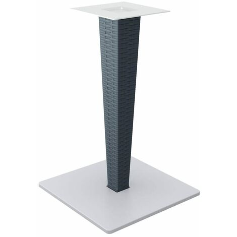 """main image of """"Rova Table Base - Grey And White Wicker"""""""