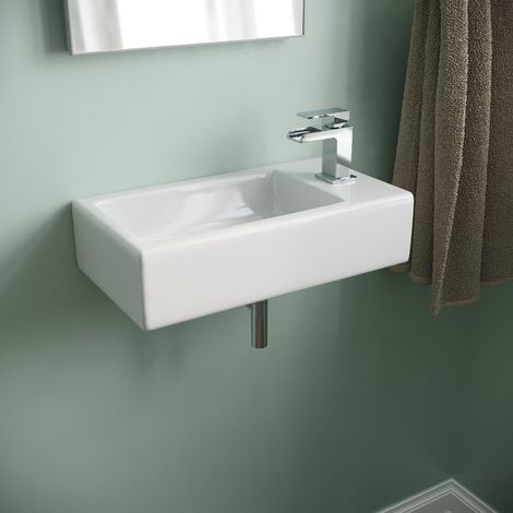 Rovin Cloakroom Wall Mounted Right Hand Basin