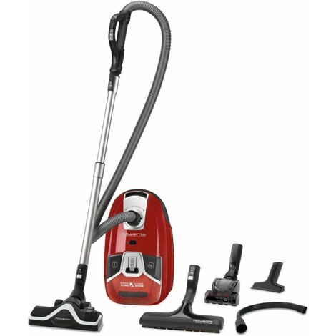 ROWENTA Aspirateur Compact Avec sac 3,5L Rouge A+AAA 67dB 21kw/an 550w Rayon d'action 11m