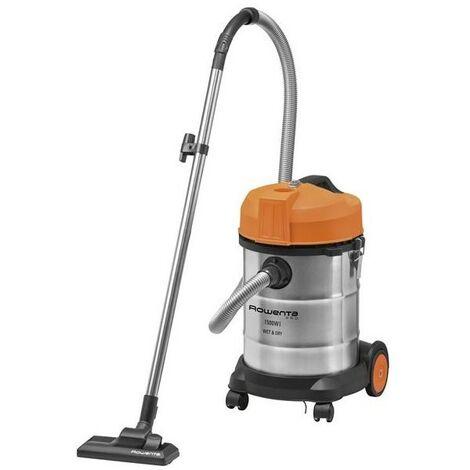 ROWENTA Aspirateur Multi-fonction bac 17kg 30L Inox Orange poussière eau gravât Rayon 5m - Multi-couleur