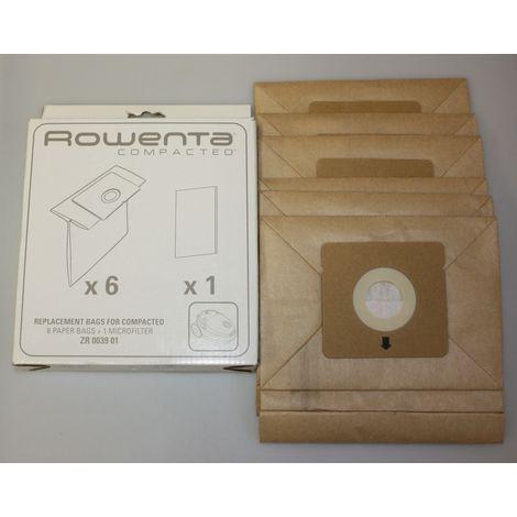 Rowenta ZR003901 6 Staubsaugerbeutel + 1 x Microfilter für Compacteo
