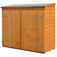 Rowlinson - Abri vélos adossable en bois 1,50 m2