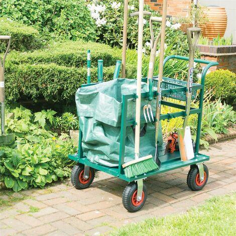 Rowlinson Garden Tool-Truk Truck Trolley Tool Storage Holder