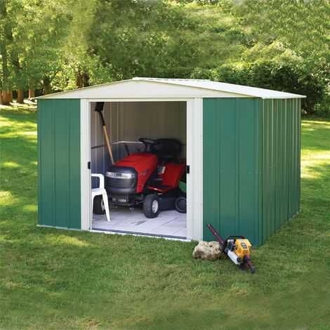 Rowlinson Greenvale 10x8 Metal Apex Shed Garden Storage Unit Cabinet Lockable