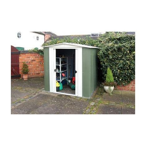 Rowlinson Greenvale Metal Apex Shed Garden Storage