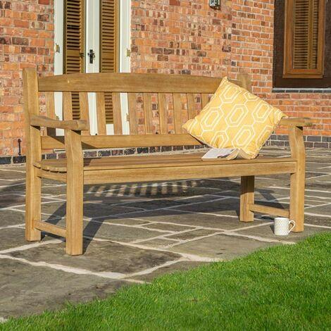 Rowlinson Tuscan Wooden Garden Park Patio Bench Chair Heavy Duty 3 Seater 1.5m