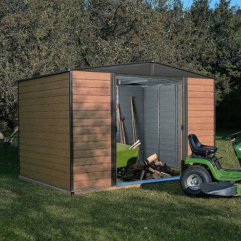 Rowlinson Woodvale 10x6 Metal Shed Garden Storage Unit Cabinet Lockable Apex