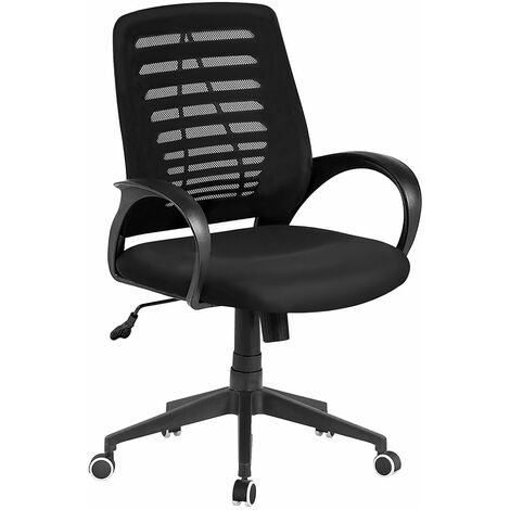Roxen Height Adjustable Office Chair with armrest and a mesh back,W61xD57xH93-103 cm - Black