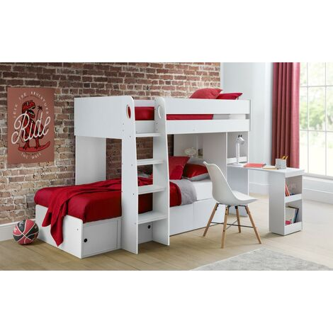 Roxie 3ft Single 90 x 190 WHITE Bed Frame