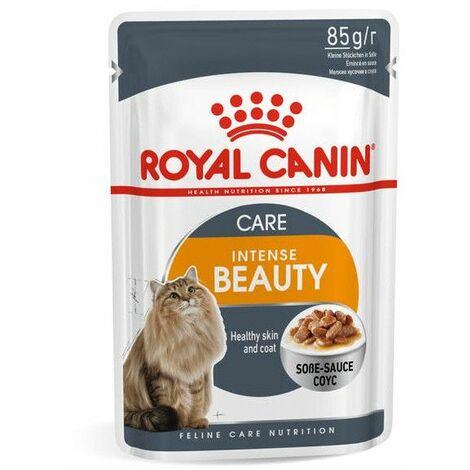 ROYAL CANIN INTENSE BEAUTY 85g (Gelatina) belleza y brillo del pelaje para gatos adultos