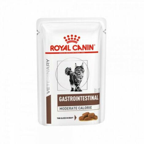 Royal Canin Veterinary Diet Gastro Intestinal Moderate Calorie pour chats 12 Sachets de 85 g