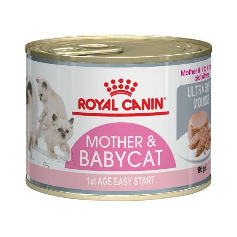 ROYAL CANIN MOTHER & BABYCAT lata 195g de mousse para gatitos (0 a 4 meses) 6 latas