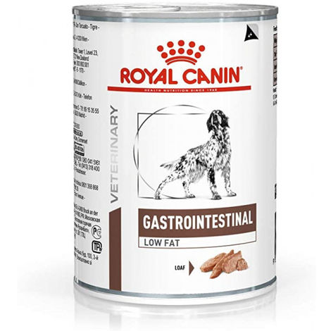 Royal Canin Veterinary Diet Gastro Intestinal Low Fat pour chiens 12 Boîtes de 410 g