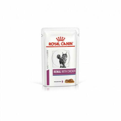 Royal Canin Veterinary Diet Renal pour chats Bouchées en sauce Poulet 12 Sachets 85 g