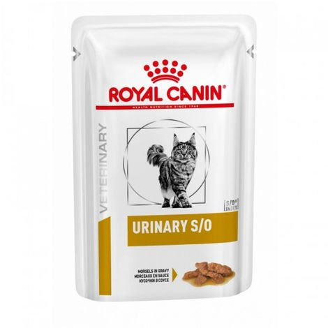 Royal Canin Veterinary Diet Urinary S/O pour chats Morceaux 12 sachets 85 g