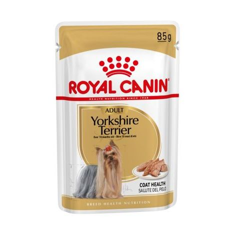 ROYAL CANIN YORKSHIRE TERRIER ADULT 85g alimento húmedo (A partir de 10 meses) - 6 Sobres 85g