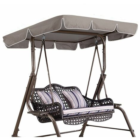 Royal Canopy Cover for Swing Chair - 167.5x114x17cm khaki LAVENTE