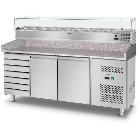 Royal Catering - Table Réfrigérante À Pizza Saladette Comptoir Réfrigéré 702 L