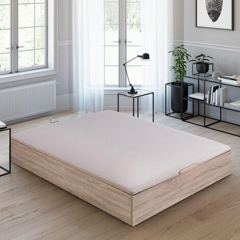 """main image of """"Royal Sleep - Canapé Abatible - Color BLANCO   Fácil apertura y gran capacidad   Tapa 3D Transpirable   Incluye subida a domicilio, desembalaje, montaje y retirada de usado   135x190   Fabricado bajo estrictas certificaciones de calidad ISO 9001"""""""