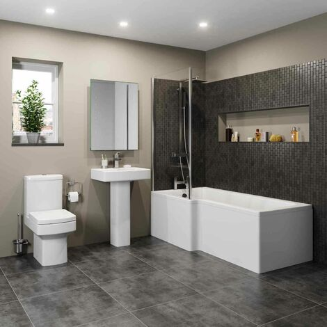 Royan L Bathroom Suite with Left Hand Bath
