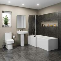 Royan L Bathroom Suite with Left Hand Bath