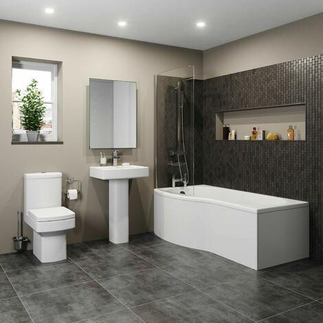 Royan P Bathroom Suite with Left Hand Bath