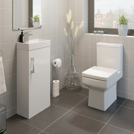 Royan Toilet and 400mm Kompakt Vanity Unit