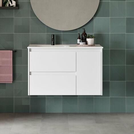 ROYO ALFA Mueble Con Lavabo 90 Blanco