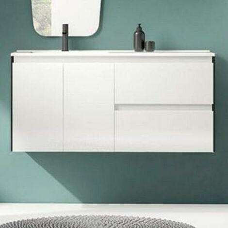 ROYO C0072330 LOOK+ Mueble Con Lavabo 120 Blanco/Negro