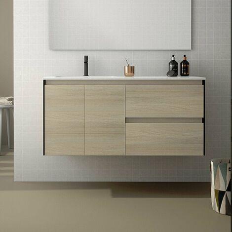 ROYO C0072332 LOOK+ Mueble Con Lavabo 120 Roble/Negro