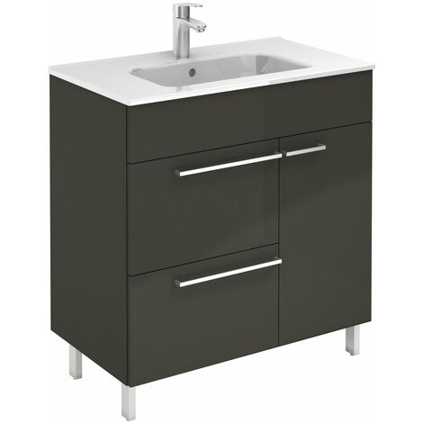 ROYO CONFORT Mueble+Lavabo Antracita