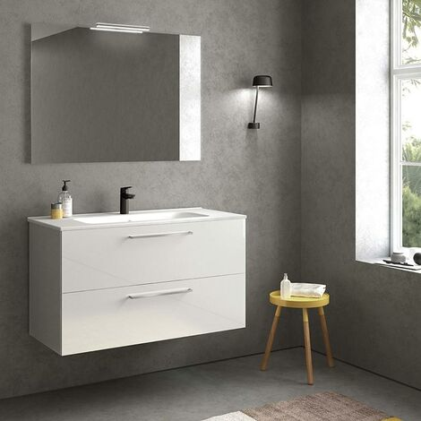 ROYO EASY Conjunto Mueble Blanco Brillo