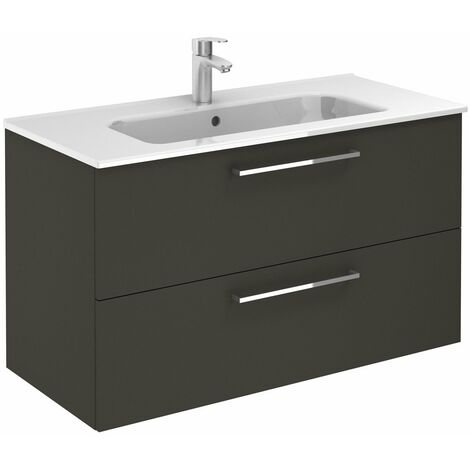 ROYO EASY Mueble+Lavabo Antracita Brillo - Medida: 60 CMS