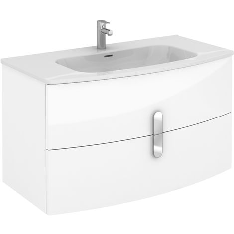 ROYO ROUND Mueble+Lavabo Blanco